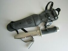Vintage USED US Diver Aqua Lung Stainless Steel Diving Knife NO RESERVE SEE ALL