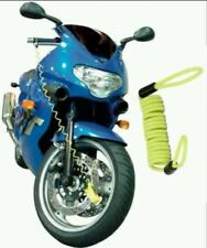 XTRM DISC LOCK REMINDER DISK CABLE MOTORCYCLE MOTORBIKE SCOOTER BIKE USE YELLOW