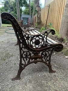 vintage cast iron bench seat