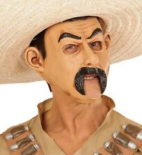 Mexican Bandit Man Fancy Dress 3/4 Face Mask with Open Mouth