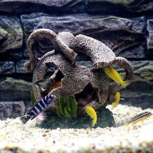 Egyptian Cave Jar Cichlid Hide Bonsai Vase for Fish Tank Aquarium Decoration