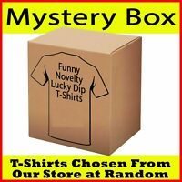 Mystery Bag T Shirt Funny Novelty tees tshirts Lucky dip T-Shirts gift Bargain