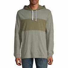 Arizona Lightweight Mens SHIRT Long Sleeve Hoodie Green Dark Pullover Size L