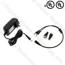 (UL) 100-240v AC 12v DC 3.0A 50/60Hz Wall Power Supply Adapter + 2 Way Spliter