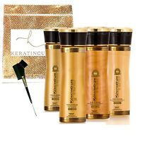 Keratin Cure Strong Hair Treatment Gold & Honey V2 6 PC Kit Frizzy Curly 5oz