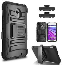 Motorola Droid Turbo 2 Belt Clip  Holster Combo Cell Phone Case Kick Stand Cover