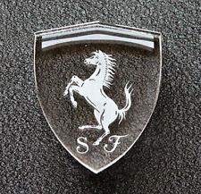 Crystal Rampante Ferrari Shield Paperweight