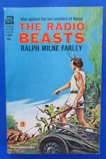1964 THE RADIO BEASTS by Ralph Milne Farley Paperback Ace F-304 VG