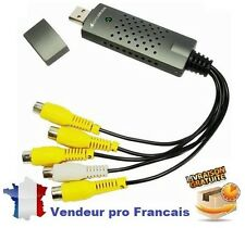 Carte d'Acquisition Vidéo Surveillance et Audio USB 2.4  4 Canaux Clé Apabtateur