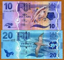 SET, FIJI, 10;20 dollars, 2012 (2013), P-New,  UNC > New Design