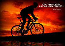 LANCE ARMSTRONG / CYCLING  INSPIRATIONAL / MOTIVATIONAL  POSTER