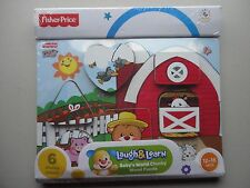 Fisher Price Chunky Wood Laugh and Learn Puzzle -New Sealed
