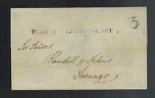 1845 Durango Mexico Stampless Letter sheet Cover Local