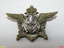 Steampunk broche insignia con Pin Bronce Cresta Escudo de Armas Plata Hámster Cobayas
