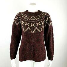 LL BEAN Womens NORDIC Fair Isle Pullover Sweater Medium