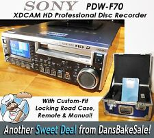 Sony PDW-F70 XDCAM HD Pro Disc Recorder - 151 Laser Hours - Custom Case - NICE!!