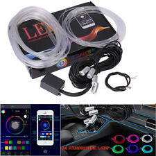 6M RGB Colorful Light LED Interior Neon Strip Sound Bluetooth Phone Contrl New