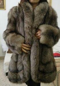 pelliccia donna volpe argentata taglia 4850