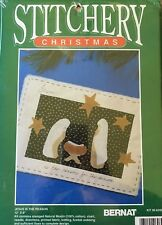 """Jesus is the Reason"" Craft Embroidery Kit Bernat Stitchery Christmas NEW"