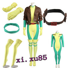 Custom Made Type X-Men Rogue Cosplay Costume Full Suit Any Size Perfect Outfit