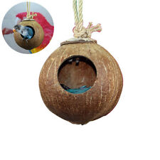 Pet Bird Nest Natural Coconut Shell Bird House Parakeet Nesting Bird Aviary Cage