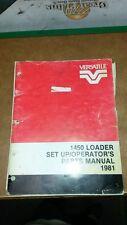 Versatile 1450 Loader Manual