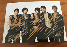 hand signed TVXQ 東方神起 autographed group photo 5*7 limited ver K-POP 082018