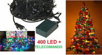 LED 400 NATALE  Luce colorata.Albero Natale,presepe,luci multicolor multicolore