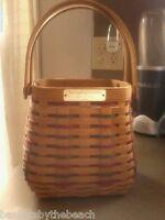 Longaberger 2002 EMPLOYEE Holiday Basket Paprika Plaid Liner Protector New Rare