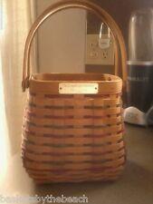 RARE 2002 Longaberger EMPLOYEE Holidays Basket Paprika Plaid Liner Protector