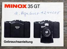 Manuale di istruzioni fotocamera Minox 35 GT 35gt user manual istruzioni (x8064