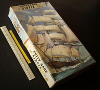 1960s Vintage 1st Ed Airfix Ser.9 Cutty Sark Clipper Ship #903 Red Stripe Box