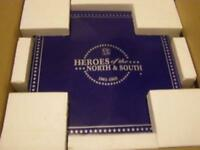 FRANKLIN MINT-HEROES OF THE NORTH/SOUTH CIVIL WAR CHESS SET-NEW IN BOX-RARE/OOP!