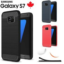 For Samsung Galaxy S7 Case Carbon Fibre Cover TPU Shockproof Screen Protector