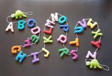 Children's room/ Preschool handcrafted colorful alphabet letters felt hangings