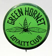 rare orig. 1940 GREEN HORNET LOYALTY CLUB pinback button movie serial premium *