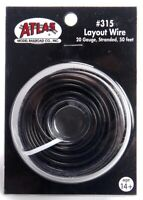 HO/N - 50' Twenty Gauge Stranded Copper Layout Wire (Black)  #ATL-315