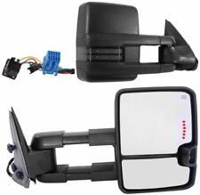 For 03-06 Silverado Sierra Black Tow Mirror Power+Heated+Smoked LED Turn Signal