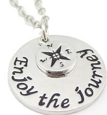 Enjoy the Journey-Necklace Geocaching World Gift Chain Jewelry Mitge