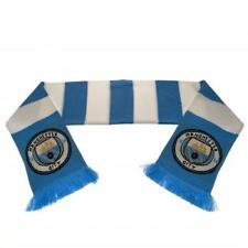 Manchester City FC / Man City Official Crested Jacquard Knit Bar Scarf Present