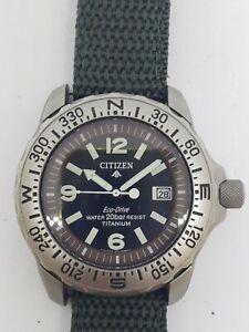 Citizen Promaster Eco Drive Titanium Watch WR200  7872-H04449 TA Solar