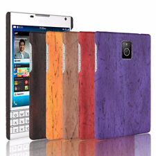 New Slim PU Leather Wood Grain Skin Case Phone Bage Cover For Blackberry Q20 Q30