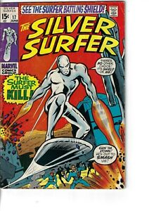 Silver Surfer 17 Mephisto Nick Fury VG+ 1970 Glossy