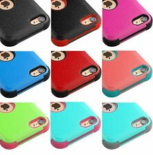 For iPod Touch 5th 6th 7th Gen - Hybrid Hard & Soft Rugged Armor Case Cover Skin