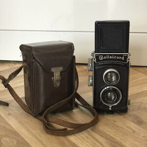 Genuine Vintage Rolleicord Compur Camera Photography With Leather Case. Untested