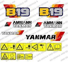 Yanmar B19 bagger-aufkleber-aufkleber-satz