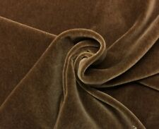 "JB MARTIN NEVADA PLUSH MOHAIR FAWN BROWN WOOL VELVET FABRIC BY THE YARD 55""W"