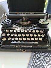 Vintage 1920's UNDERWOOD Standard Four Bank Keyboard Portable Typewriter & Case