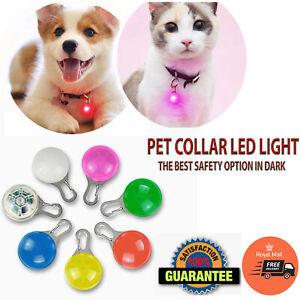 LED Pet collar light Dog Cat Safety Warning Tag Night Clip Flashing Pendant UK