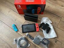 Nintendo Switch (blau/rot) + Splatoon 2 Spielkonsole